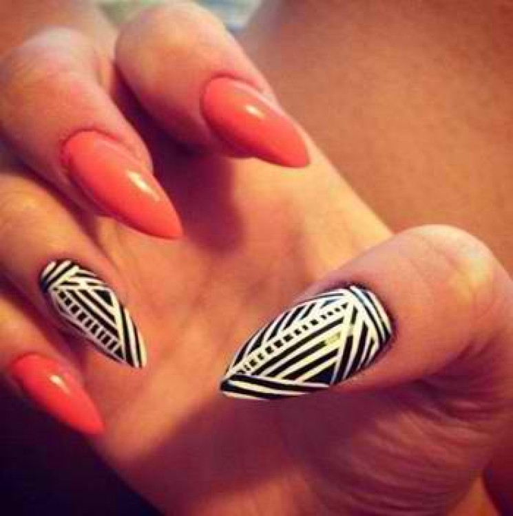 Nail ideas abstract stiletto nails 10 pretty fingers prinsesfo Choice Image